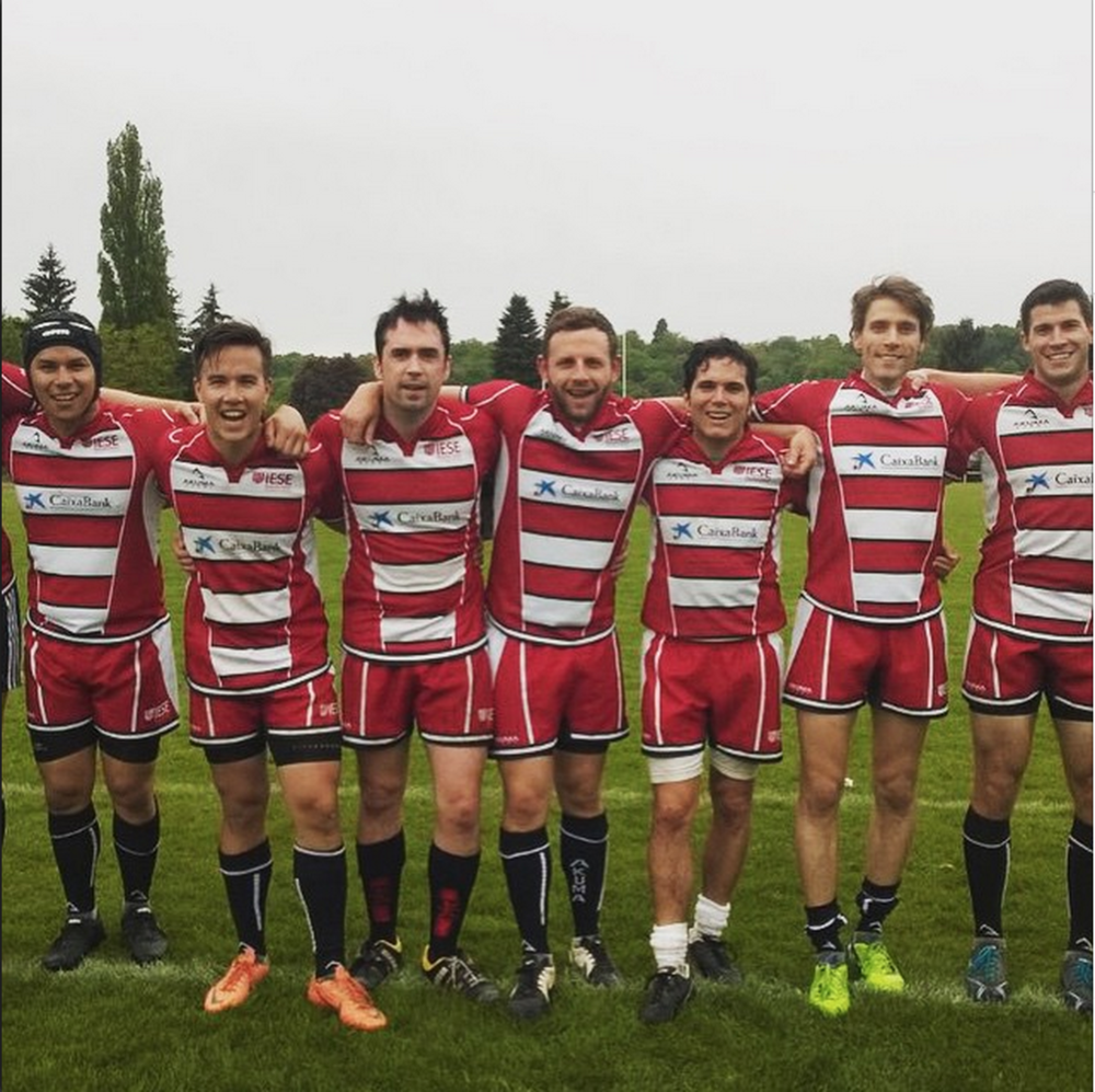 #9.  IESE rugby team after their first game of the tournament. (via raffygarcia)
