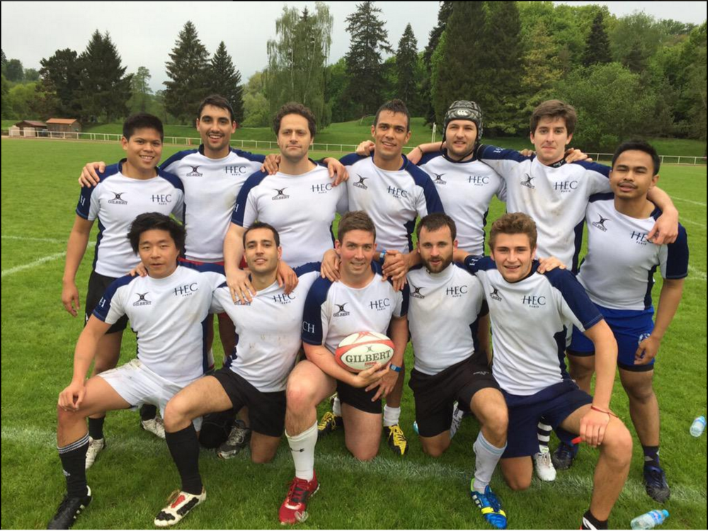 #16.  Gold medal for the HEC Paris rugby team. (via @meaghankappel)