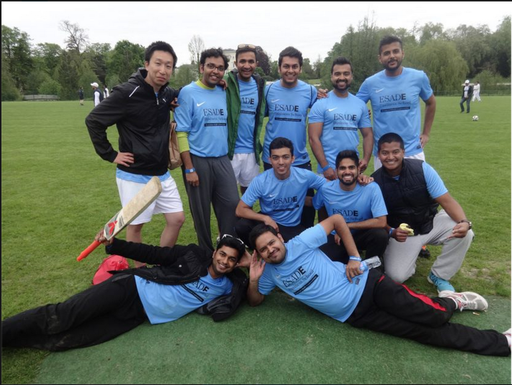 #13.  ESADE cricket team!  (via  t  heESADEmba )