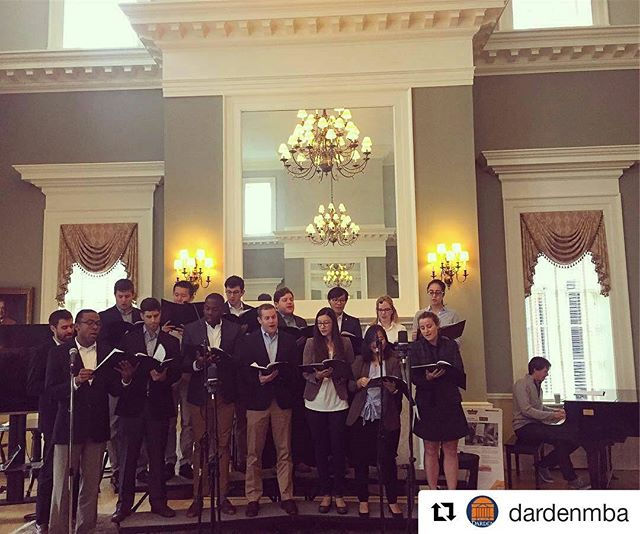 #PicOfTheDay: We love this photo of the Darden Cold Call Chorus performing at this morning's First Coffee! 📷: @dardenmba