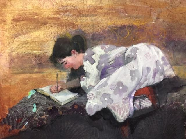Nellie Writing, by Doris Spector