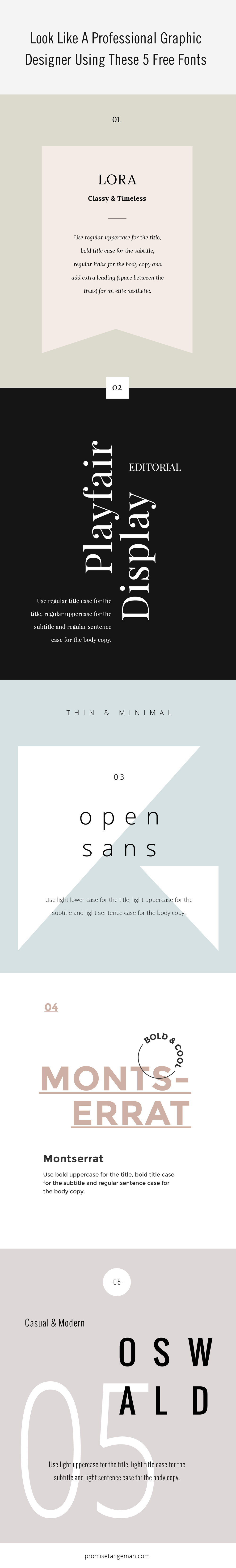 look like a graphic designer using these 5 free fonts u2014 promise