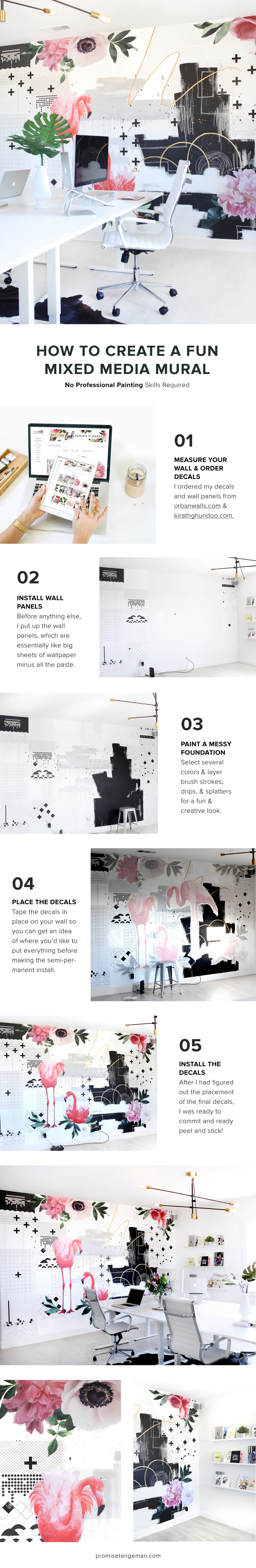 how to create a mixed media mural by Promise Tangeman