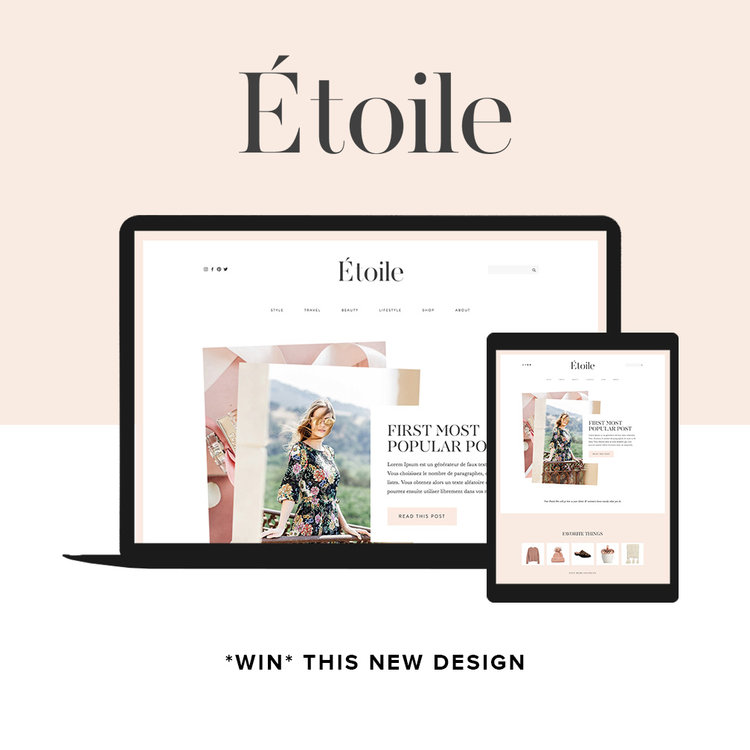 The new etoile website template is live in the shop promise tangeman etoile fashion blog template by go live hq maxwellsz