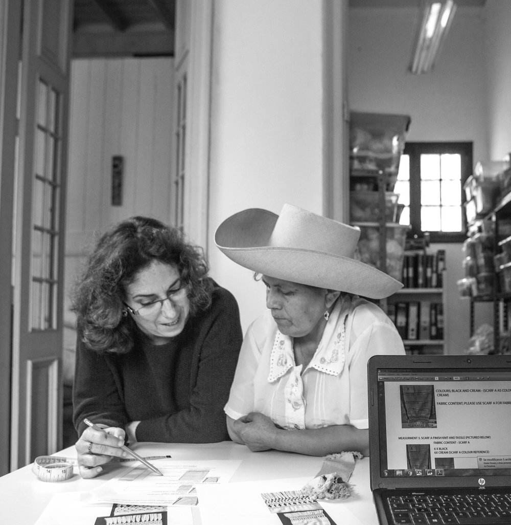 - Marta Castañeda founder of Pais textil with Miriam Celli Hernández