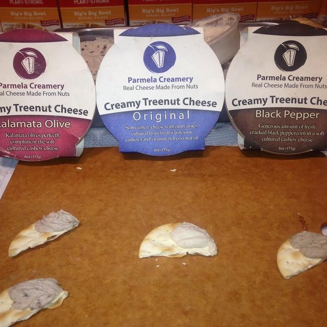 Delicious cashew cheeses! @wfmdelmar