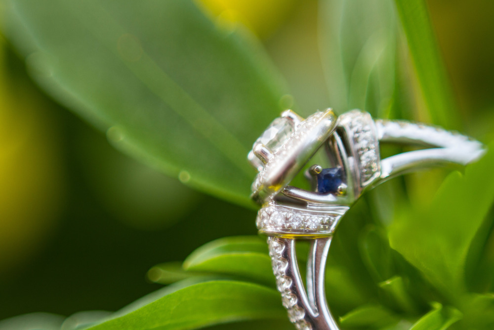 Blaylock Imagery McMenamins Edgefield Portland Oregon Engagement Ring Sapphire