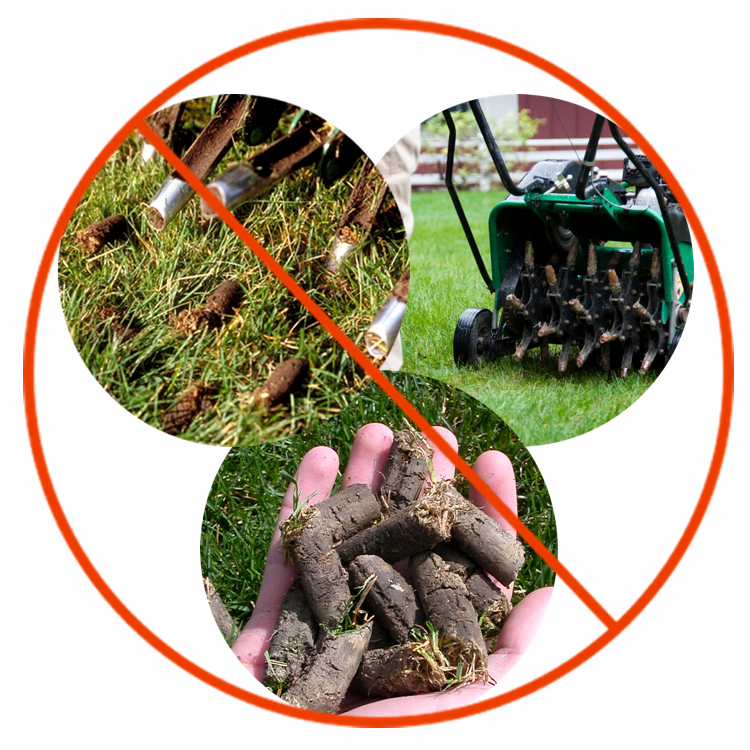 No more messy aeration - Avoid the expense and hassle of mechanical aeration. In addition, aeration doesn't release the hardened, trapped essential minerals in the soil for the benefit of your lawn. Nothing is better at restoring your healthy soil. Truly.