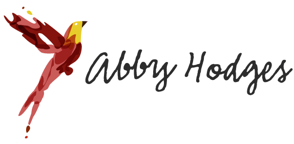 Abby had the nickname of 'Little Birdy' during her year abroad in Germany. I thought creating a bird related logo for her site would be perfect!