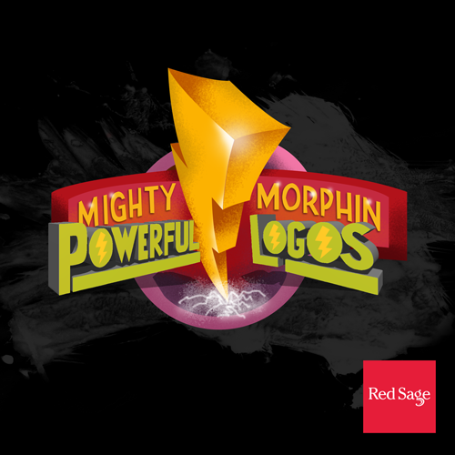 Mighty Morphin Powerful Logos. Blog graphic by Lauren Hodges