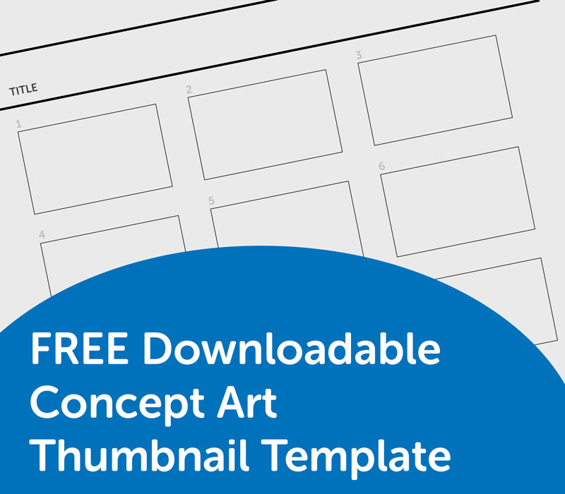 free downloadable concept art thumbnail template lauren hodges