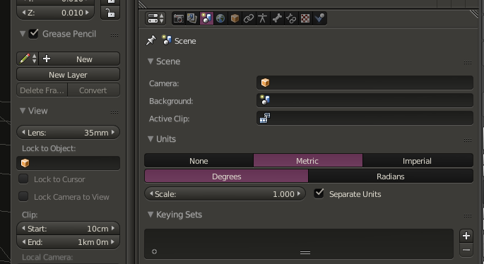 Blender Metric settings optimized for Unreal Engine. It's also important to note that the frame rate for video game animation should be set to 30FPS.