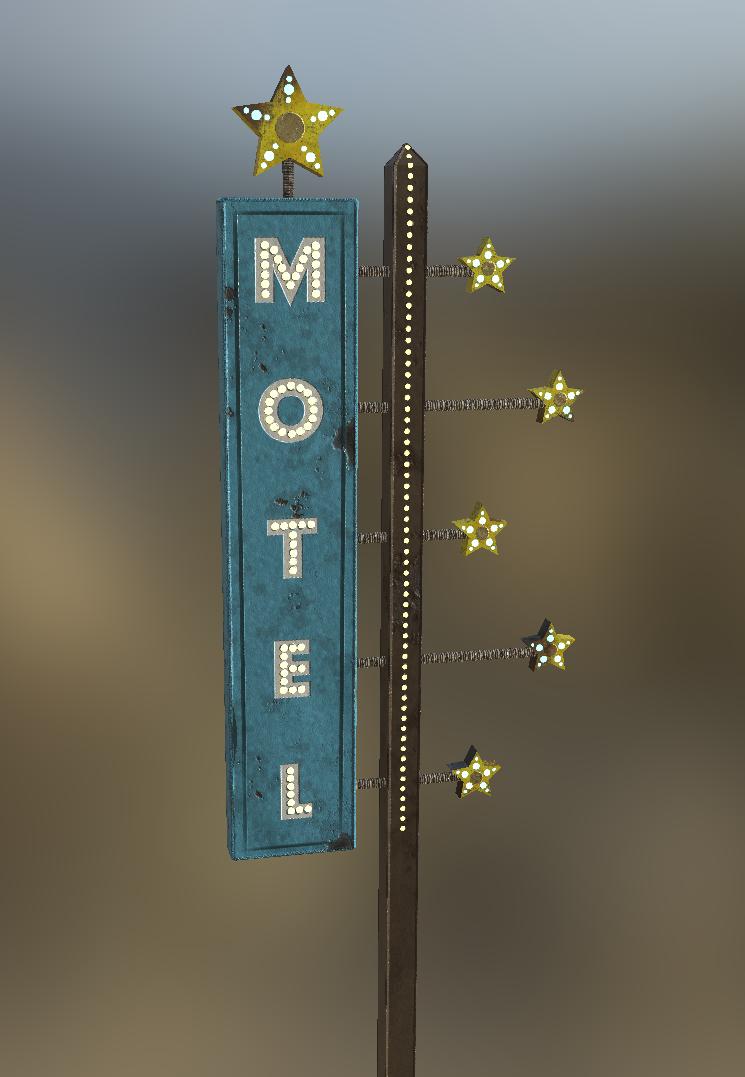 Vintage Starlit Sign Game Asset