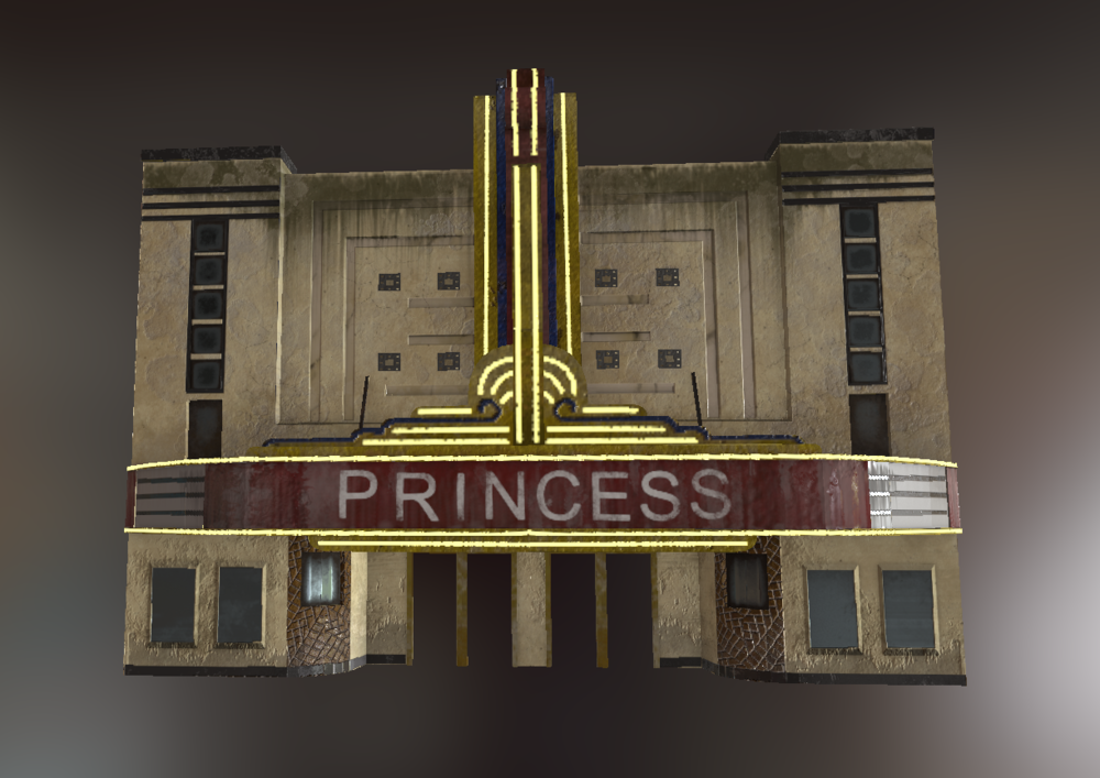 Princess Theater Model Front View - Lauren Hodges