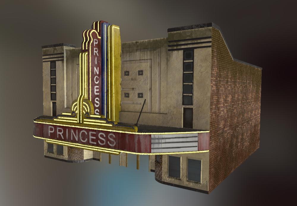 Princess Theater Game Asset