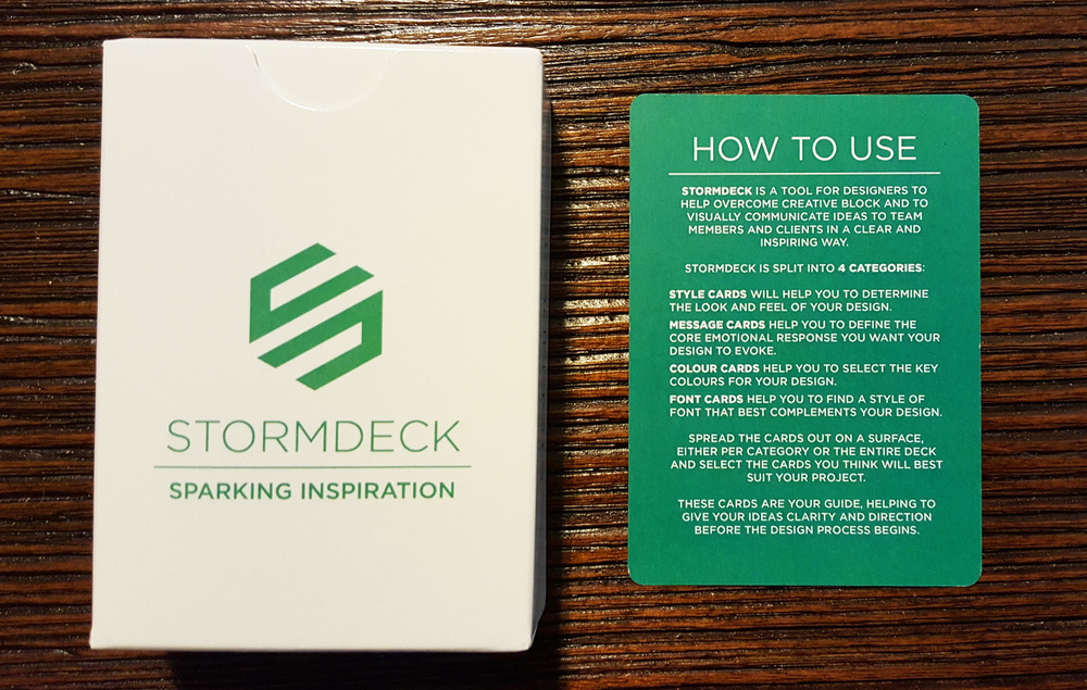 StormDeck packaging with 'How to Use' card