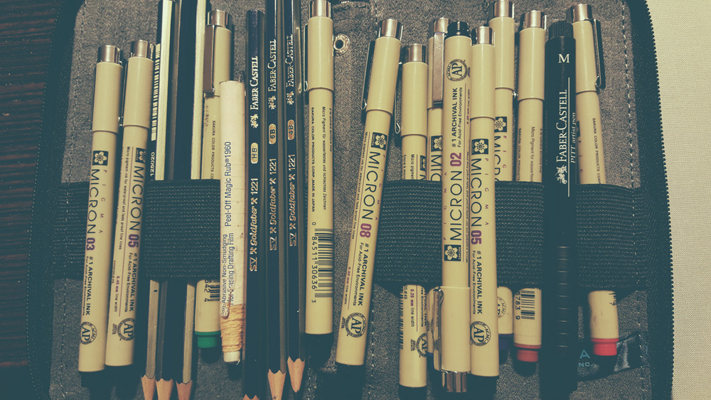 My arsenal of drawing supplies