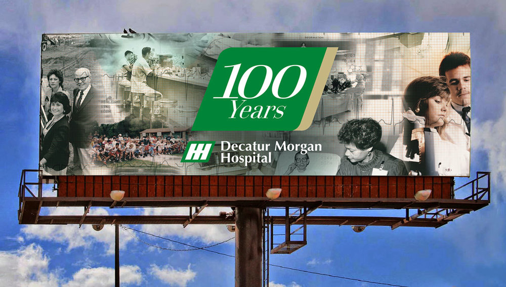 Decatur Morgan Hospital 100th Anniversary Billboard