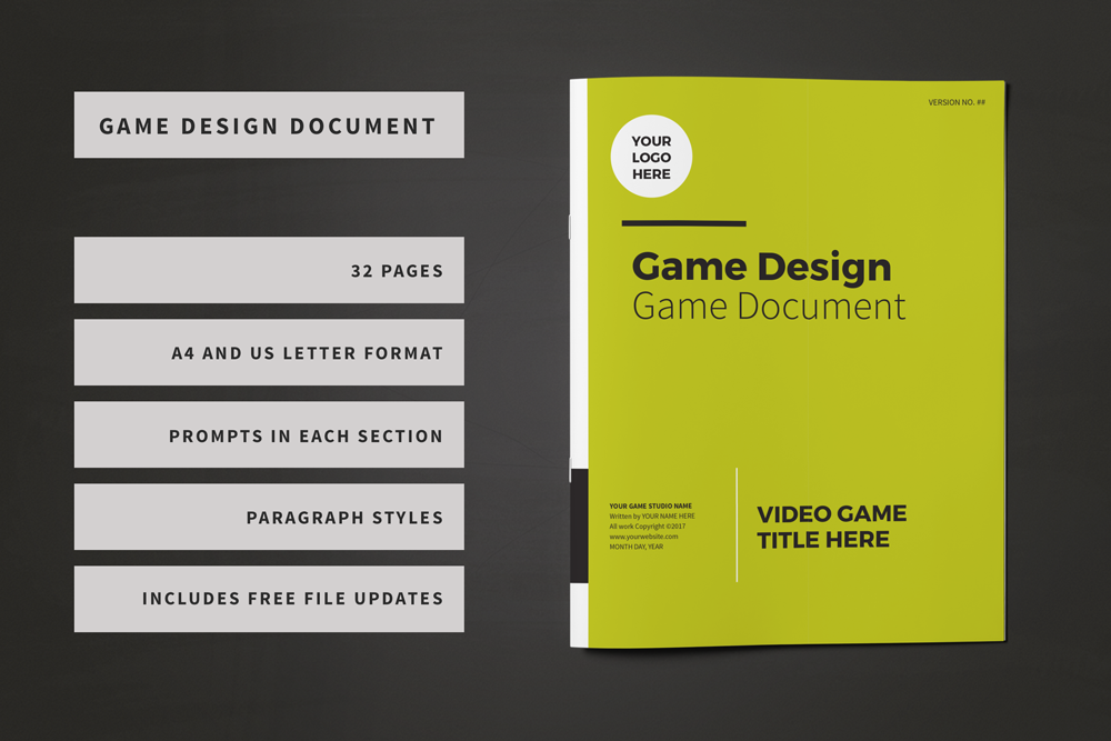 Professional Game Design Document Template Lauren Hodges - How to make a gdd