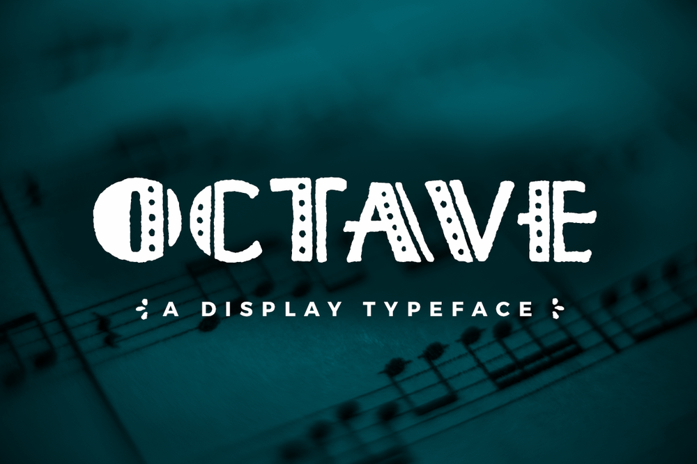 A symphony and orchestra Art Deco Inspired typeface designed by Lauren Hodges