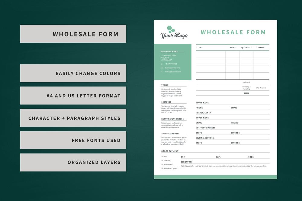 Wholesale Order Form Template Lauren Hodges Illustrator