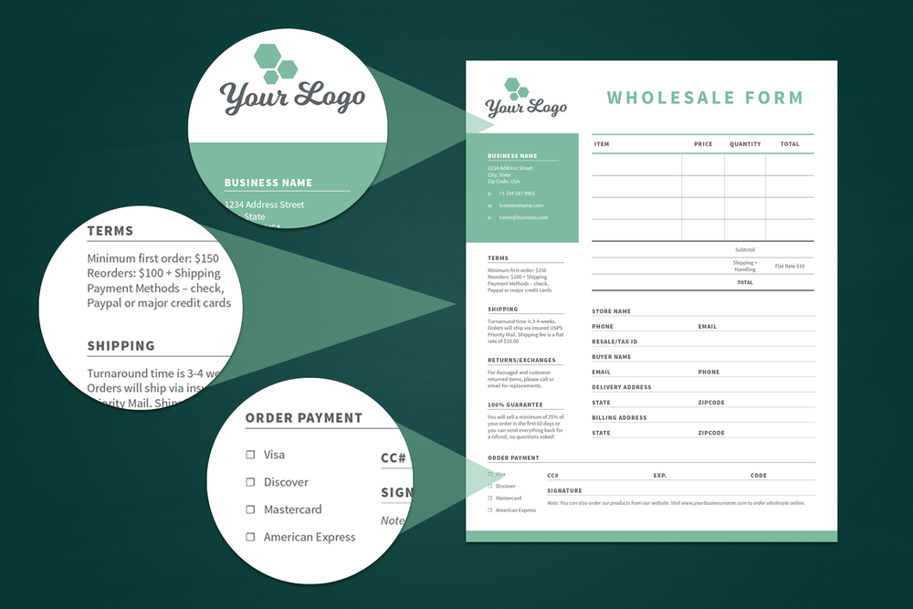 wholesale order form template