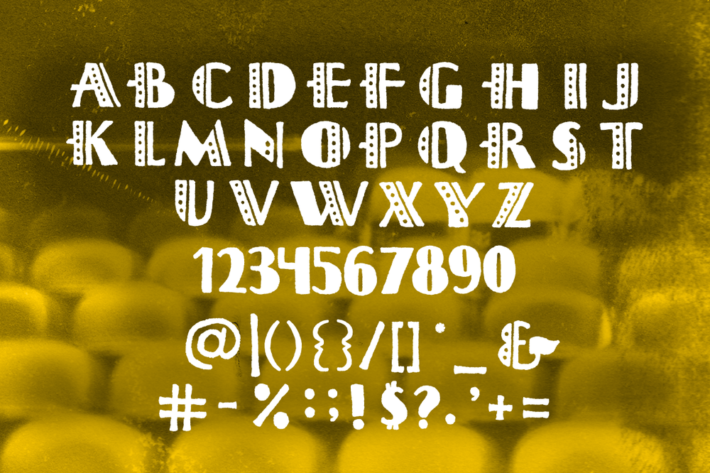 Hand Drawn Octave Typeface by Lauren Hodges. Made with  Fontself.