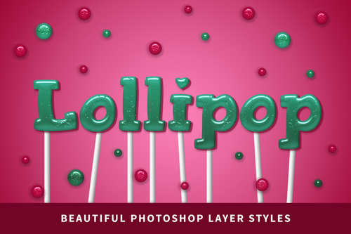 NEW! Lollipop Photoshop Layer Styles Pack — Lauren Hodges