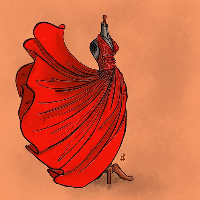 Day 10: Flowing . . I wanted to spend an eternity perfecting these fabric folds. This was definitely a challenge. I think the overarching realism I wanted is there. . . #inktober2018 #inktober #inktoberday10 #digitalart #illustration #illustrationartists #digitalillustration #fashionart #flowing #drawing #girlsinillustration #illustrationoftheday #inktoberchallenge #reddress