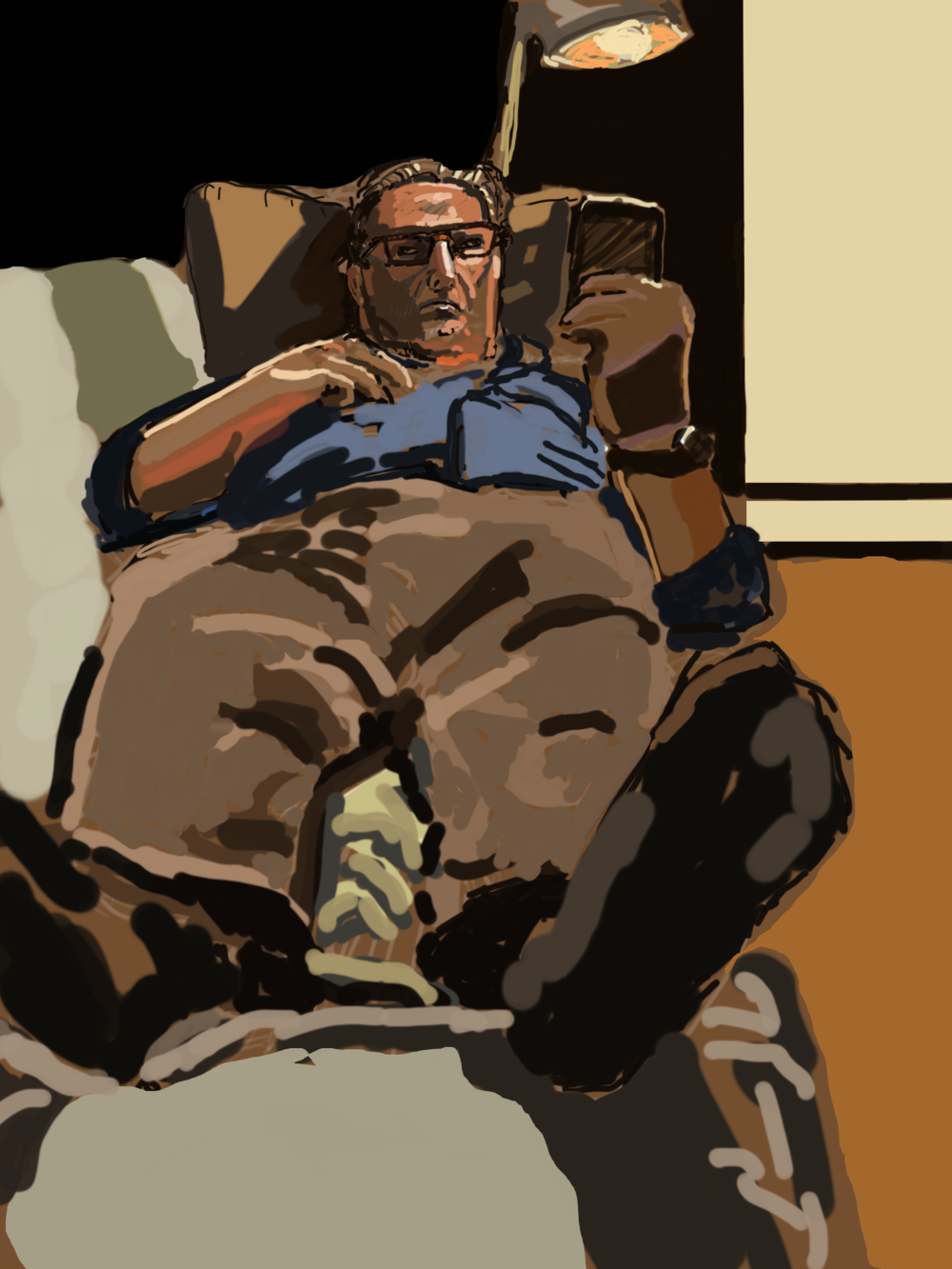 Dad on the Couch