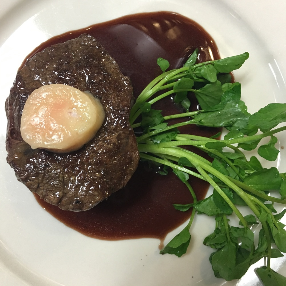BEING SUCH A RICH DISH, THE WATERCRESS HELPS REFRESH THE PALATE