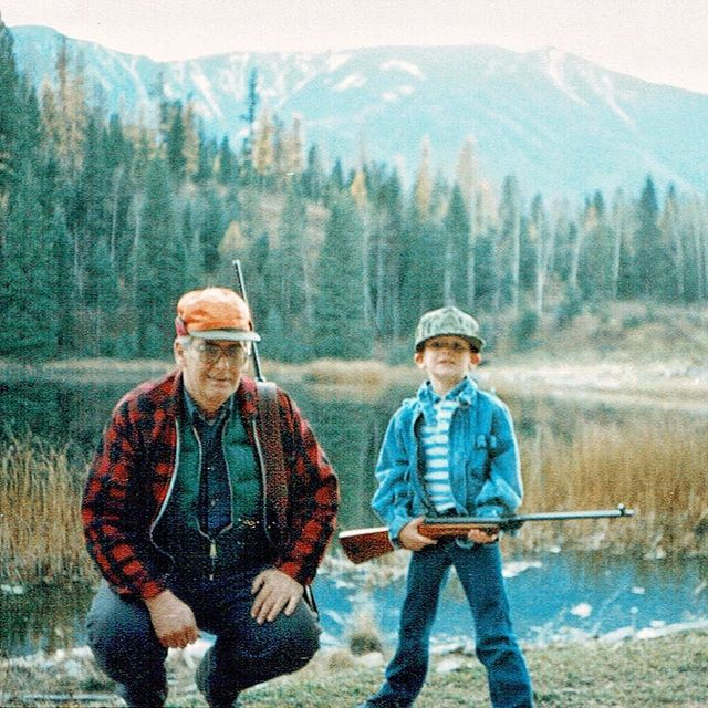Papa and I. '86 or '87 in the Kootenay's, I think. In our family, there was always wild game in the freezer. Moose being the favorite. One of my favorite photos of him and I. I could never put into words how much I miss this man.