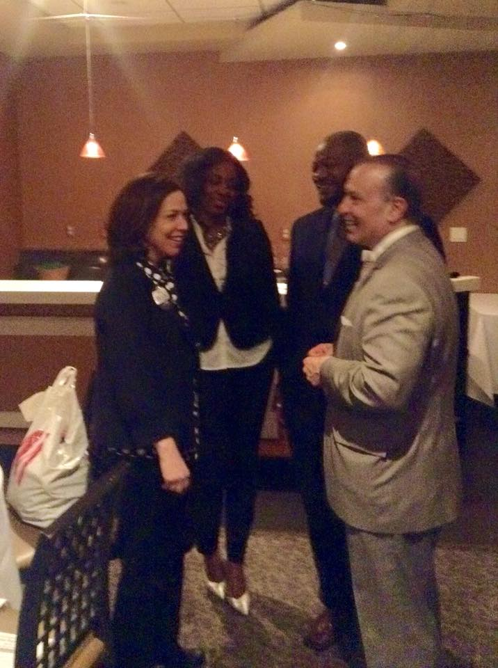 Betsy and others at the South Philadelphia Business Association Candidate Night.