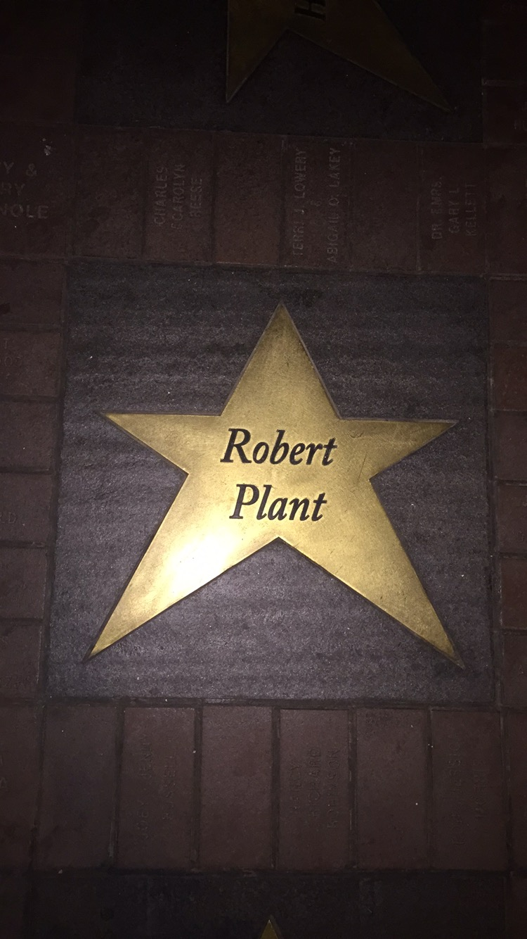 Robert Plant's star in front of the Orpheum Theatre *swoons*
