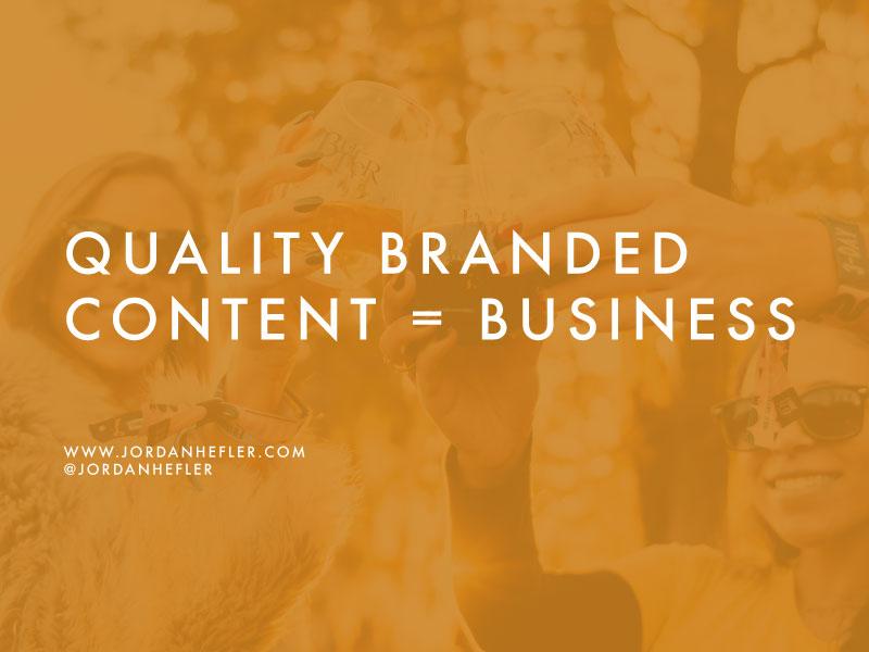 Quality Branded Content = Business | Jordan Hefler