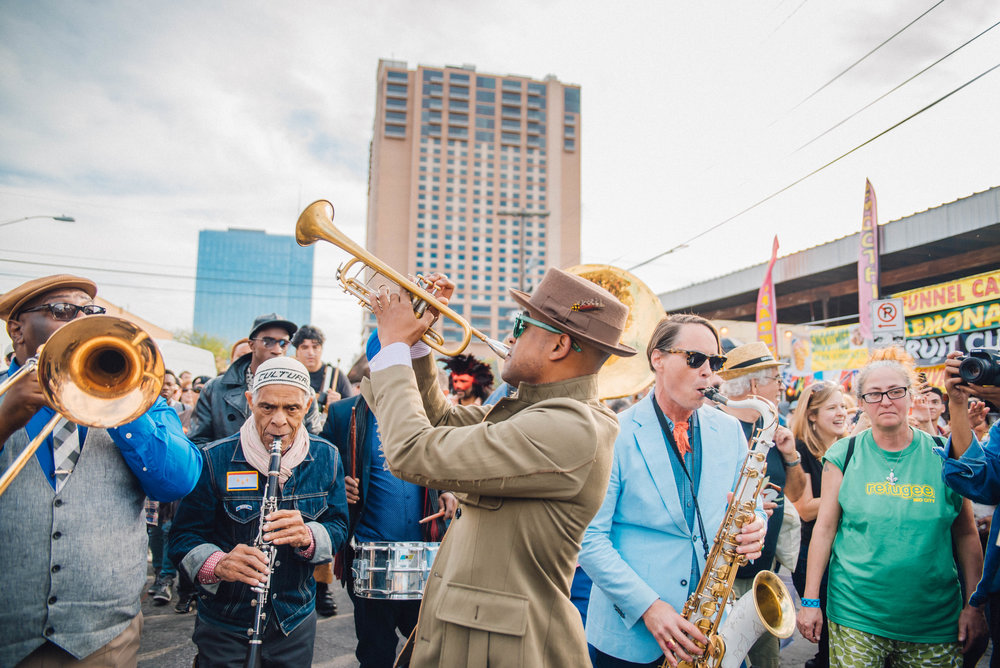 Preservation Hall Secondline at SXSW 2018 | Jordan Hefler