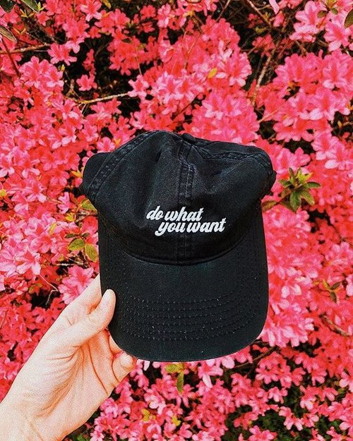 5975a1818dc Do What You Want Dad Hat. DoWhatYouWantHat Black Flowers.jpg