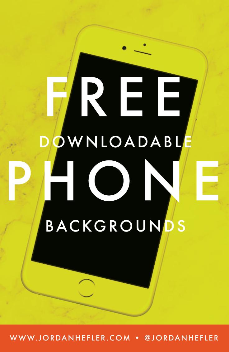 Phone Swag: Free Downloadable Phone Backgrounds | Jordan Hefler