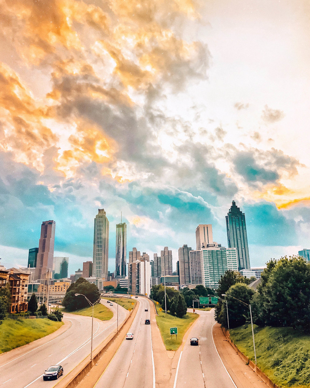 Atlanta Skyline View from the Jackson Street Bridge | Things to Do in Atlanta | Jordan Hefler