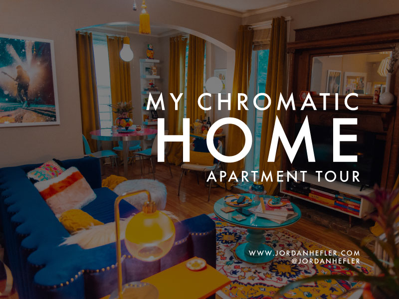 My Chromatic Home | Apartment Tour with Jordan Hefler