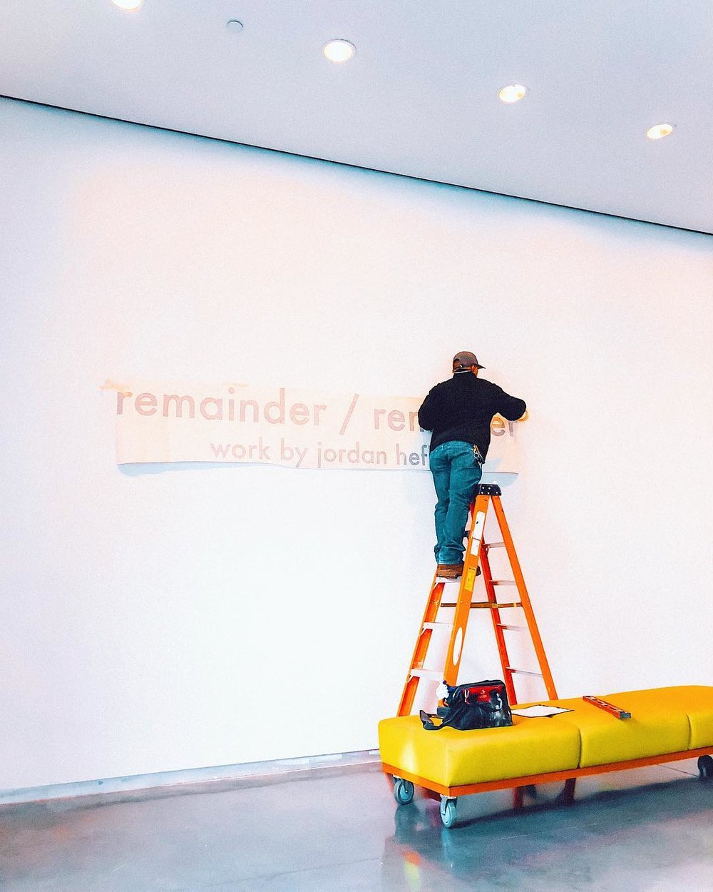 DID YOU KNOW that vinyl lettering like this for a gallery showing costs at least $200?