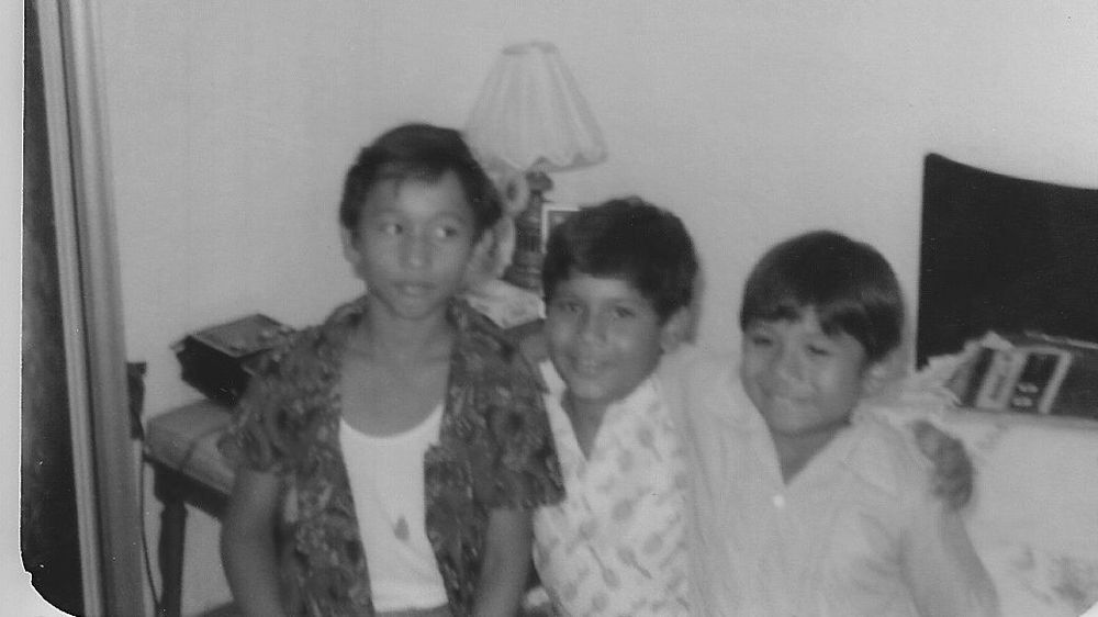 "My three ""brothers"" in Veracruz: Humberto, Paco and Memo."