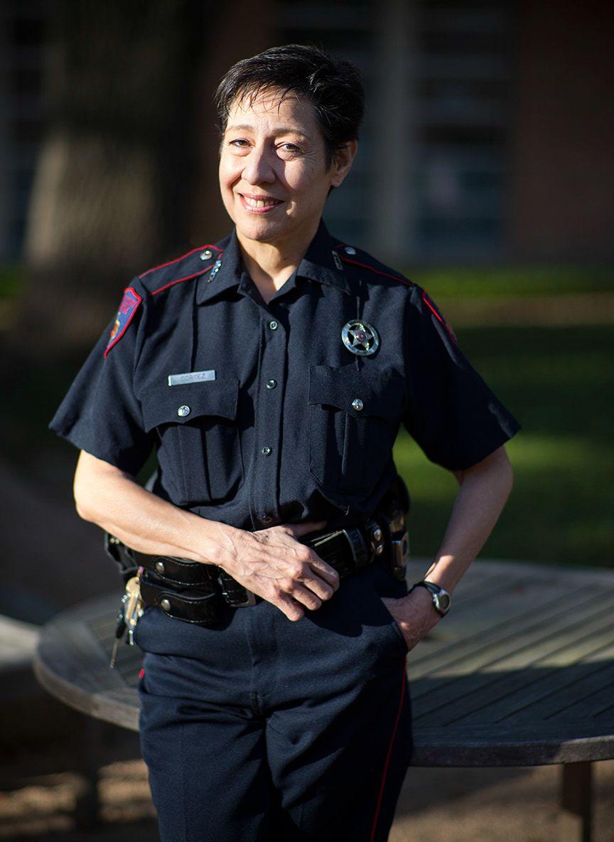 Sarah Cortez in Uniform