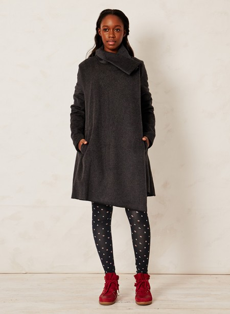 KARIJINI WOOL WRAP COAT | $224