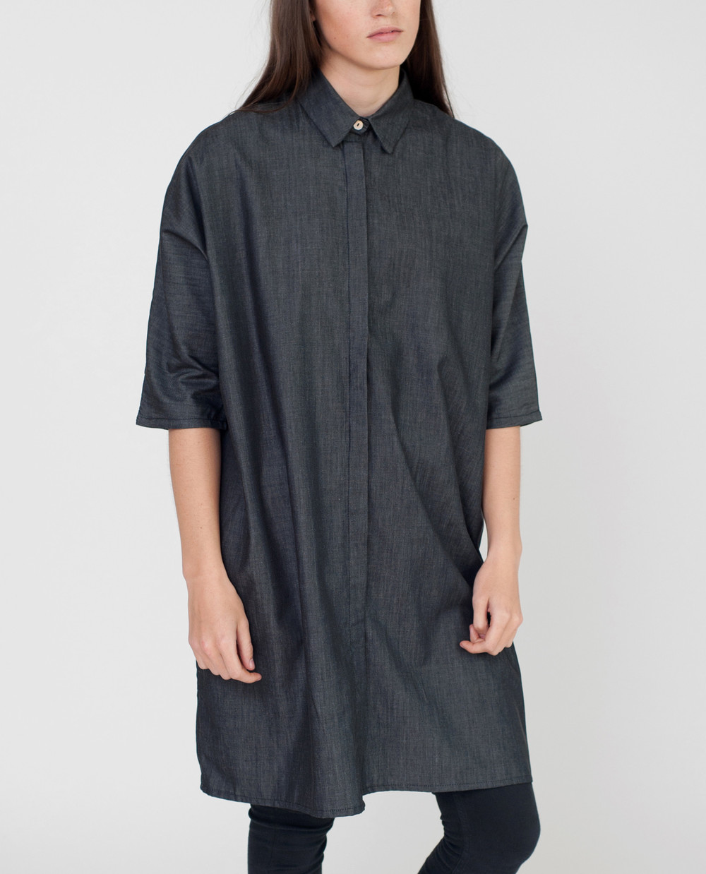Madeline-Beaumont-Organic-Cotton-Chambray-Shirt-In-Black-1.jpg