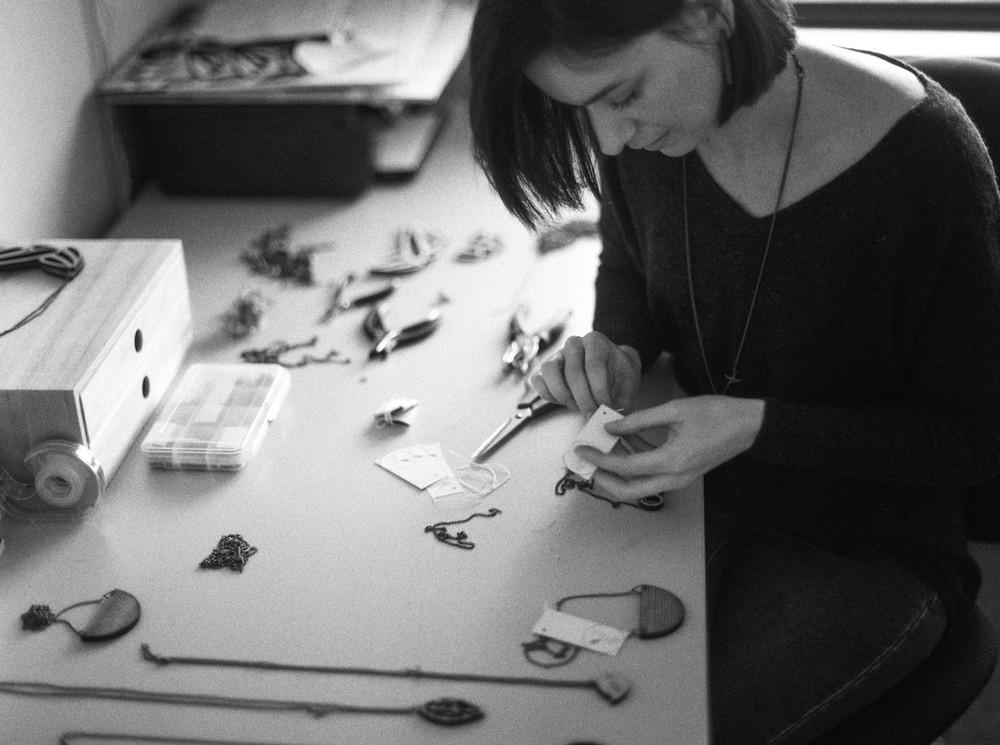 Anna in her studio.