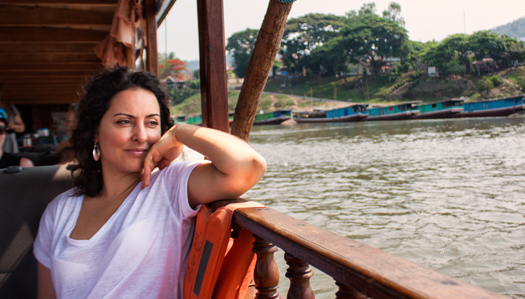 Tanya Coelho daydreaming down the Mekong