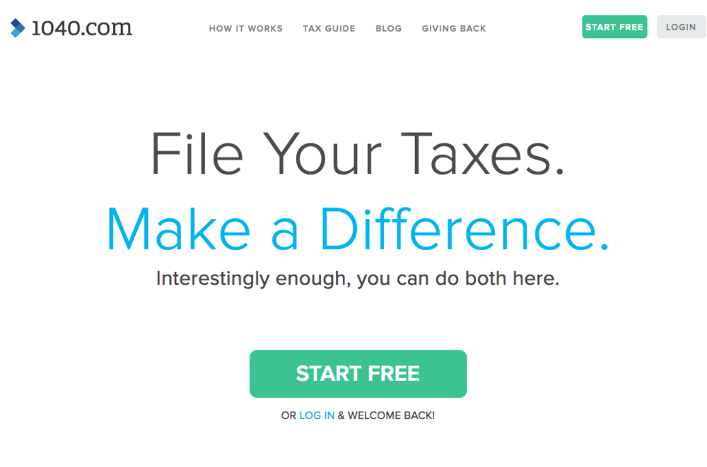 Tax Filing ,  1040.com  FREE or $9.95+ depending on tax situation