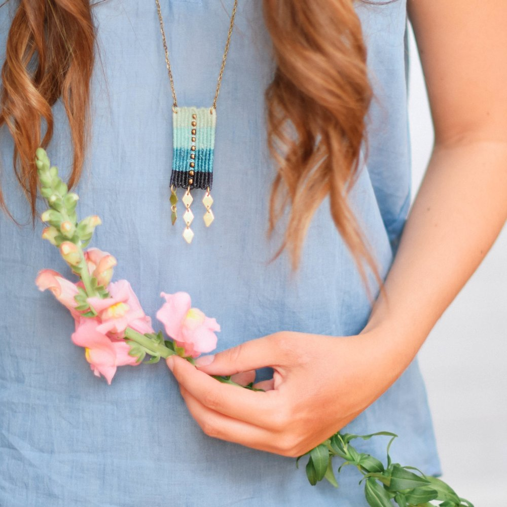 Ombre Pendant Necklace, HUGG $28