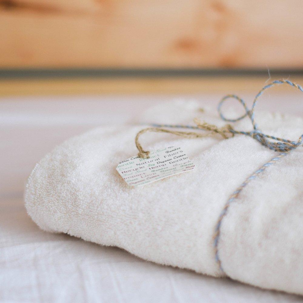 Organic Cotton Towel, Hope & Twine $25